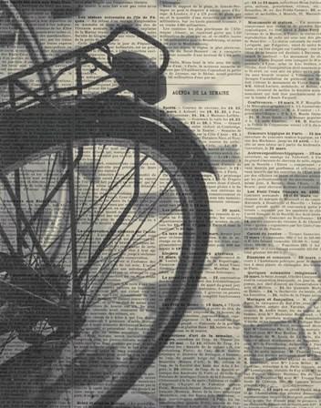 La Bicyclette III by Marc Olivier art print