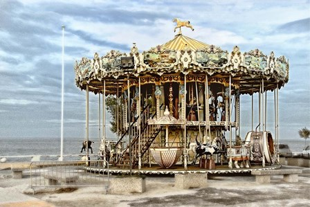 Arcachon Carousel by Colby Chester art print