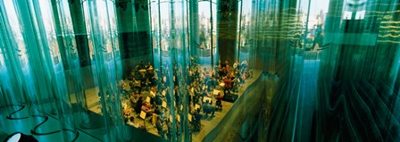 Musicians at a concert hall, Casa Da Musica, Porto, Portugal by Panoramic Images art print