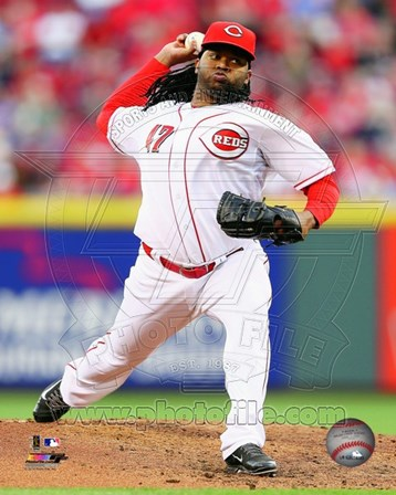 Johnny Cueto Pitching Baseball art print