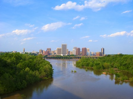 Skyline of Richmond, VA art print