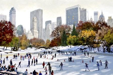 Skating In New York by The Macneil Studio art print