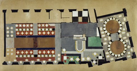 Plan For A Bus Station: Design For The First Floor, 1927 by Theo van Doesburg art print