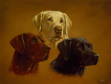 Portrait of Three by John Silver art print