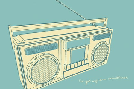 Lunastrella Boombox by John W. Golden art print