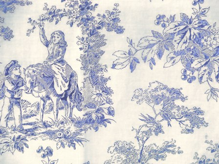 Toile Fabrics VI by Color Bakery art print