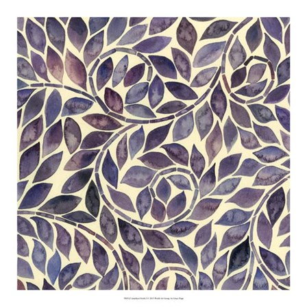 Amethyst Swirls I by Grace Popp art print