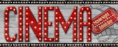 Movie Marquee Panel I (Cinema) by Jen Killeen art print