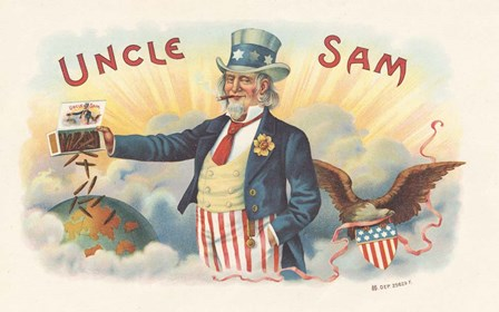 Uncle Sam by Art of the Cigar art print