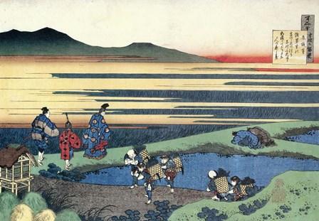 The Poet Walks Across a Narrow Bank by Katsushika Hokusai art print