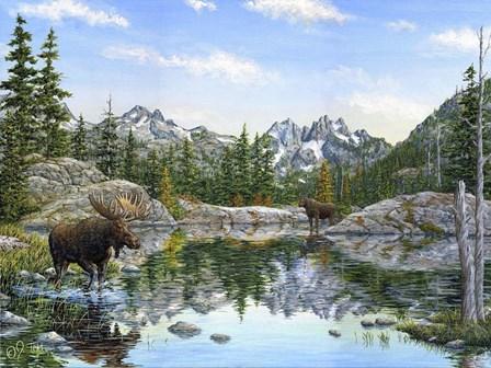 Moose Painting 2 by Jeff Tift art print