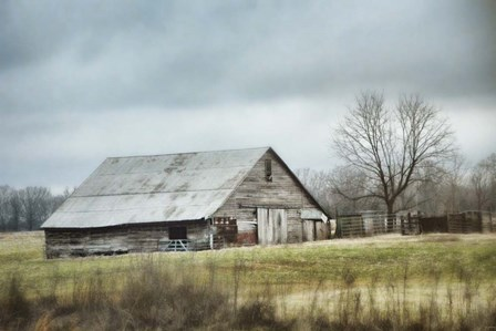 An Old Gray Barn by Jai Johnson art print