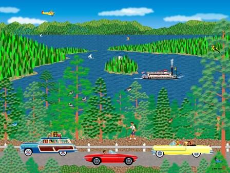 Cruising Lake Tahoe by Mark Frost art print