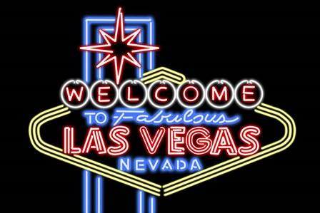 Welcome to Las Vegas by Lantern Press art print