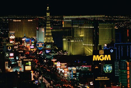 The Strip, Las Vegas, Clark County, Nevada by Panoramic Images art print