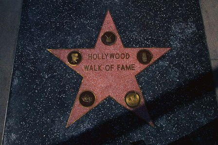 Hollywood Walk of Fame Star, Los Angeles, CA by Panoramic Images art print