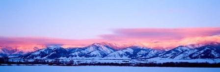 Bridger Mountains Sunset, Montana by Panoramic Images art print