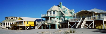 Beach Front Houses, Gulf Shores, Baldwin County, Alabama by Panoramic Images art print
