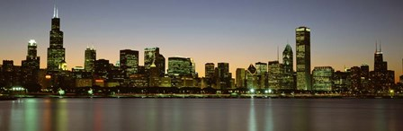 Chicago Skyline at Dusk, IL by Panoramic Images art print