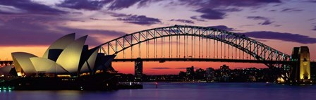 Sydney Harbor Bridge At Sunset,  Australia by Panoramic Images art print