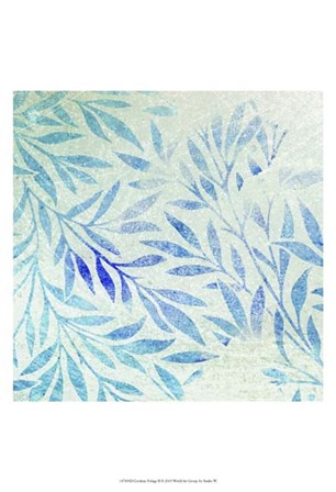 Cerulean Foliage II by Studio W art print