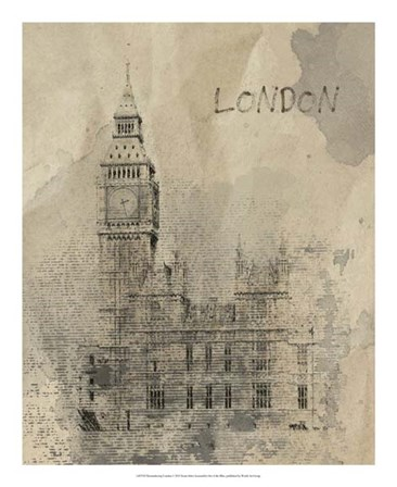 Remembering London by Irena Orlov art print