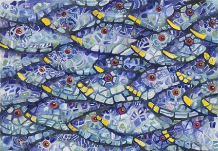 Mosaic School At Sea by Charlsie Kelly art print