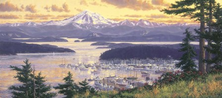 Friday Harbor by Randy Van Beek art print