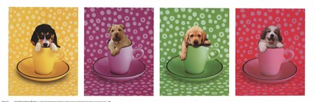 Four Puppies by Keith Kimberlin art print