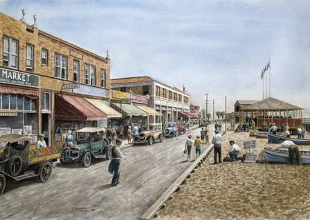 Newport Beach, c.1926 by Stanton Manolakas art print
