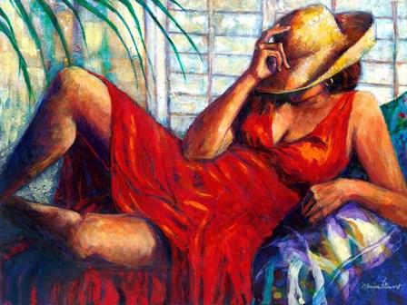 Chilling by Monica Stewart art print
