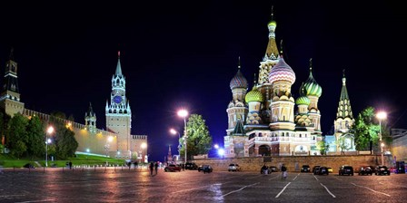 Red Square at Night, Moscow by Vadim Ratsenskiy art print
