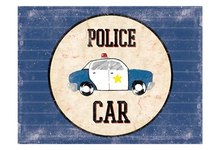 Police Car Blues by Jace Grey art print
