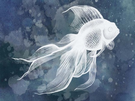 Indigo Fish II by Grace Popp art print