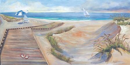 Boardwalk by Sheila Elsea art print