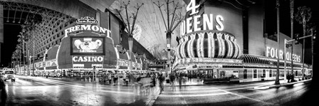 Fremont Street at night, Las Vegas, Clark County, Nevada by Panoramic Images art print