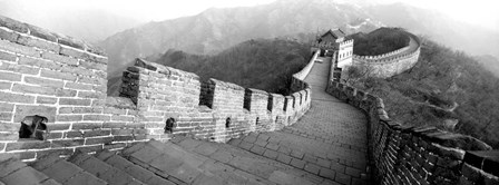Great Wall Of China, Mutianyu, China BW by Panoramic Images art print