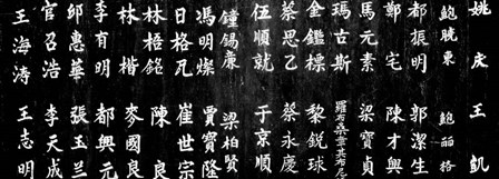 Close-up of Chinese ideograms, Beijing, China BW by Panoramic Images art print