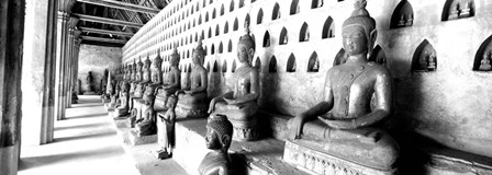 Vat Si Saket, Vientiane, Laos BW by Panoramic Images art print
