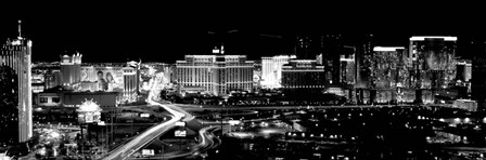 City lit up at night, Las Vegas, Nevada by Panoramic Images art print