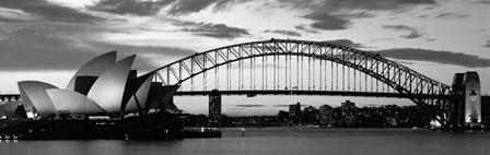 Sydney Harbour Bridge At Sunset, Sydney, Australia by Panoramic Images art print