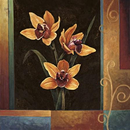 Yellow Orchids by Jill Deveraux art print