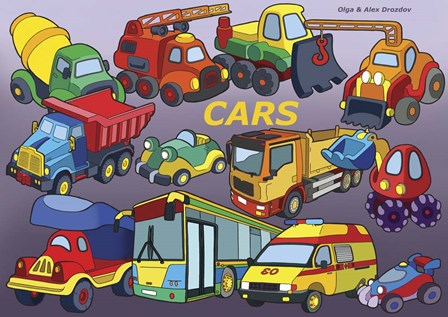 Cars by Olga and Alexey Drozdov art print