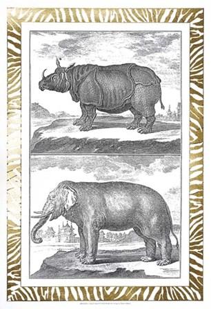 Gilded Safari I - Metallic Foil by Denis Diderot art print