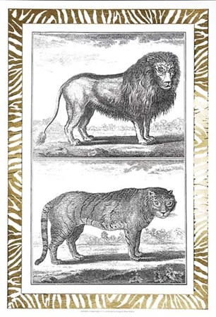 Gilded Safari IV - Metallic Foil by Denis Diderot art print