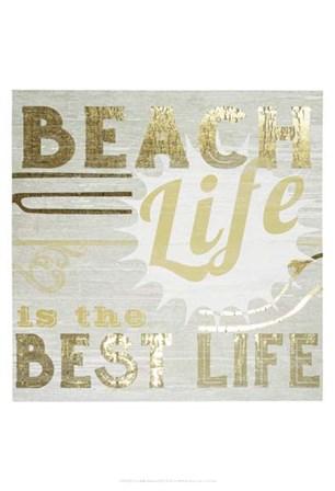 Gold & Beachy II by June Erica Vess art print