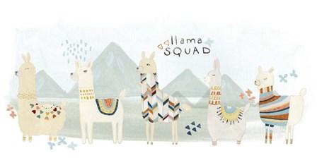 Llama Squad III by June Erica Vess art print
