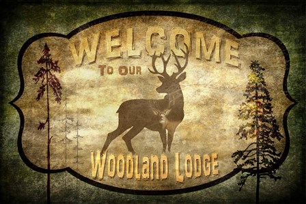 Welcome - Lodge Deer by LightBoxJournal art print