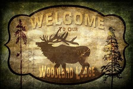 Welcome - Lodge Elk by LightBoxJournal art print