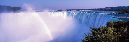 Horseshoe Falls with Rainbow, Niagara Falls, Ontario, Canada by Panoramic Images art print